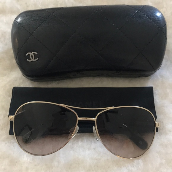 8a8141cedc99 CHANEL Accessories - Chanel Aviator sunglasses   gold and tortoise